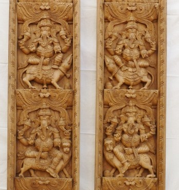 Vertical Ganesha Panels