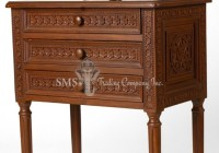 3 Drawer Pedestal Table