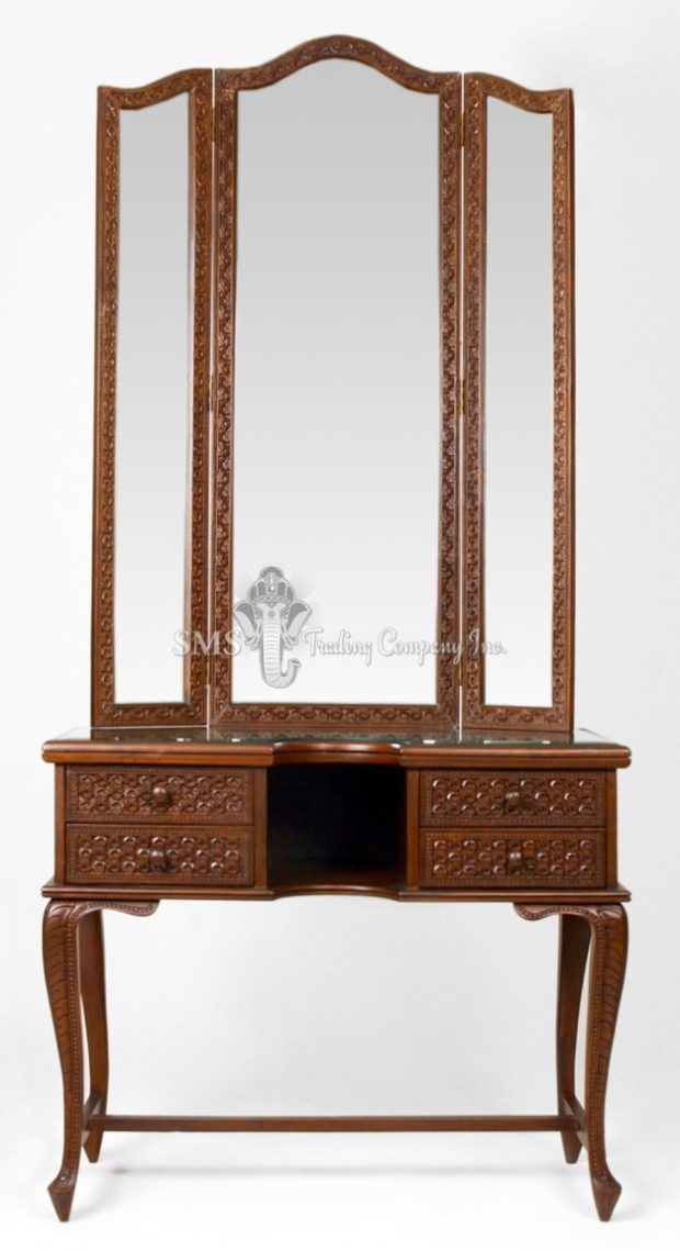 Dresser with Folding Mirrors