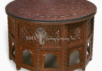 Round Top Jali Table