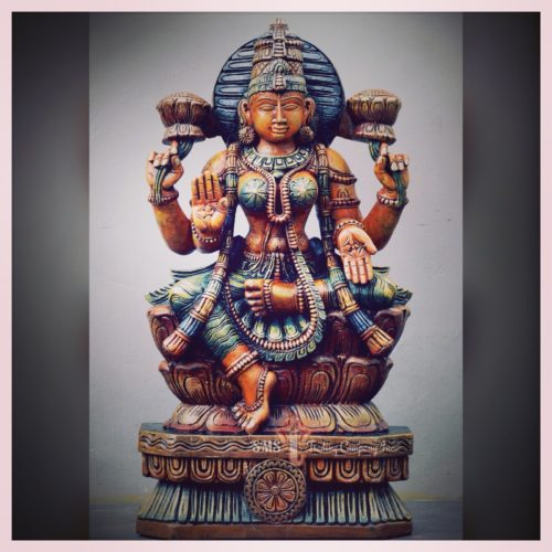 2.5 ft Colored Laxmi Sculpture