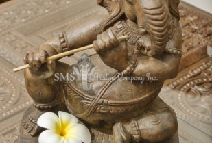 Ganesha with Musical Instrument #1 (Antique)